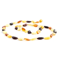 The Amber Monkey Polished 14-15 inch Necklace - Multi Bean