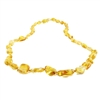 The Amber Monkey Polished Baltic Amber 21-22 inch Necklace - Lemon Bean Discontinued
