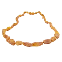 The Amber Monkey Baltic Amber 21-22 inch Necklace - Raw Cognac Bean Discontinued