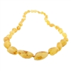 The Amber Monkey Baltic Amber 21-22 inch Necklace - Raw Lemon Bean Discontinued