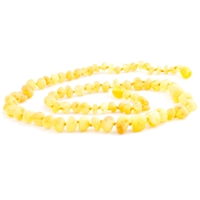 The Amber Monkey Baroque Baltic Amber 21-22 inch Necklace - Raw Lemon
