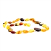 The Amber Monkey Baltic Amber 21-22 inch Necklace - Raw Multi Bean