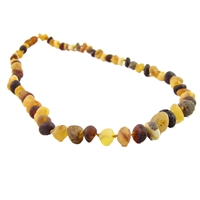 The Amber Monkey Baroque Baltic Amber 17-18 inch Necklace - Raw Multi