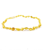 The Amber Monkey Polished Baltic Amber 14-15 inch Necklace - Lemon Bean Discontinued