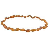 The Amber Monkey Baltic Amber 14-15 inch Necklace - Raw Cognac Bean Discontinued
