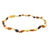 The Amber Monkey Baltic Amber 10-11 inch Necklace - Raw Multi Bean