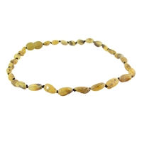 The Amber Monkey Baltic Amber 12-13 inch Necklace - Raw Pear Bean