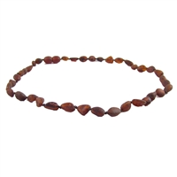 The Amber Monkey Baltic Amber 14-15 inch Necklace - Raw Chestnut Bean