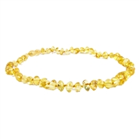 The Amber Monkey Polished Baroque Baltic Amber 10-11 inch Necklace - Lemon