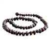 The Amber Monkey Baroque Baltic Amber 17-18 inch Necklace - Raw Chestnut