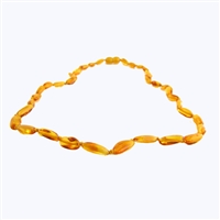 The Amber Monkey Polished Baltic Amber 21-22 inch Necklace - Honey Bean Discontinued