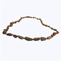 The Amber Monkey Baltic Amber 21-22 inch Necklace - Raw Chestnut Bean