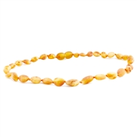 The Amber Monkey Baltic Amber 10-11 inch Necklace - Raw Honey Bean