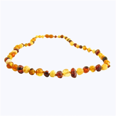 The Amber Monkey Polished Baroque Baltic Amber 17-18 inch Necklace - Multi