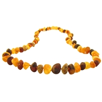 The Amber Monkey Baroque Baltic Amber 21-22 inch Necklace - Raw Multi