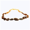 The Amber Monkey Baltic Amber 17-18 inch Necklace - Raw Rainbow Bean