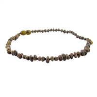 The Amber Monkey Baroque Baltic Amber 10-11 inch Necklace - Raw Olive