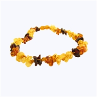 The Amber Monkey Baltic Amber 17-18 inch Necklace - Multi Knots