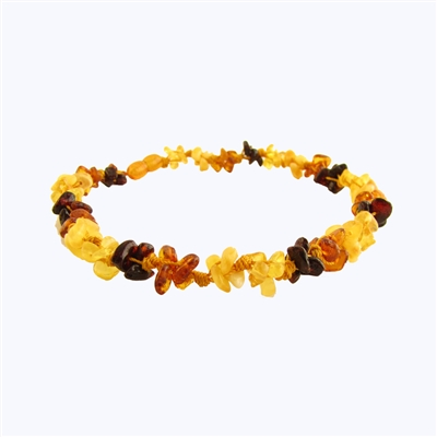 The Amber Monkey Baltic Amber 7-8 inch Bracelet- Multi Knots