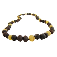The Amber Monkey Baltic Amber 21-22 inch Necklace - Raw Lemon/Chestnut Trio