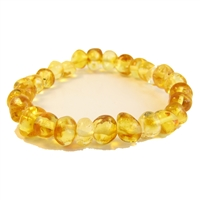 The Amber Monkey 8 inch Bracelet- Lemon Stretch