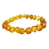 The Amber Monkey Baltic Amber 7 inch Bracelet- Honey Screw Clasp