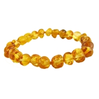 The Amber Monkey Baltic Amber 7 inch Bracelet- Honey Stretch