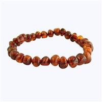 The Amber Monkey Baltic Amber 7 inch Bracelet- Cognac Screw Clasp