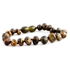 The Amber Monkey Baltic Amber 7-8 inch Bracelet- Olive Screw Clasp