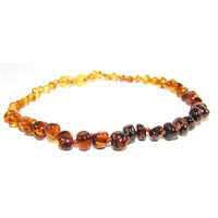 The Amber Monkey Polished Baroque Baltic Amber 14-15 inch Necklace - Rainbow