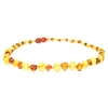 The Amber Monkey Baroque Baltic Amber 10-11 inch Necklace - Raw Lemon/Polished Cognac POP