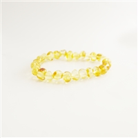 The Amber Monkey Baltic Amber 7-8 inch Bracelet- Lemon Screw