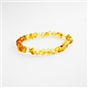 The Amber Monkey Baltic Amber Petite Lemon Stretch Baroque Bracelet- 7-8 inch
