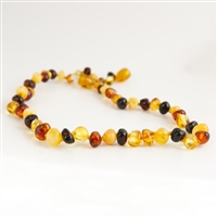 The Amber Monkey Baltic Amber 26 inch Polished Baroque Necklace - Multi