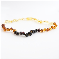 The Amber Monkey Baltic Amber 26 inch Polished Baroque Necklace - Rainbow