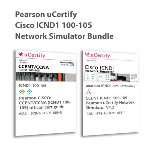 CCENT ICND1 100-105 Pearson uCertify Course and Network Simulator Bundle