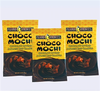 Choco Mochi Chocolate Covered Rice Crackers Snack Bags
