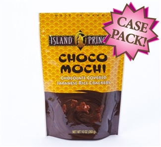 Choco Mochi Chocolate Covered Rice Crackers 10oz (12 Bags)