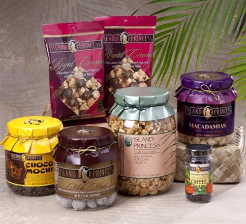 95ec463b4ee3 Hawaiian Luau Party Snacks Macadamia Nuts, Caramel Corn, Crunchy ...