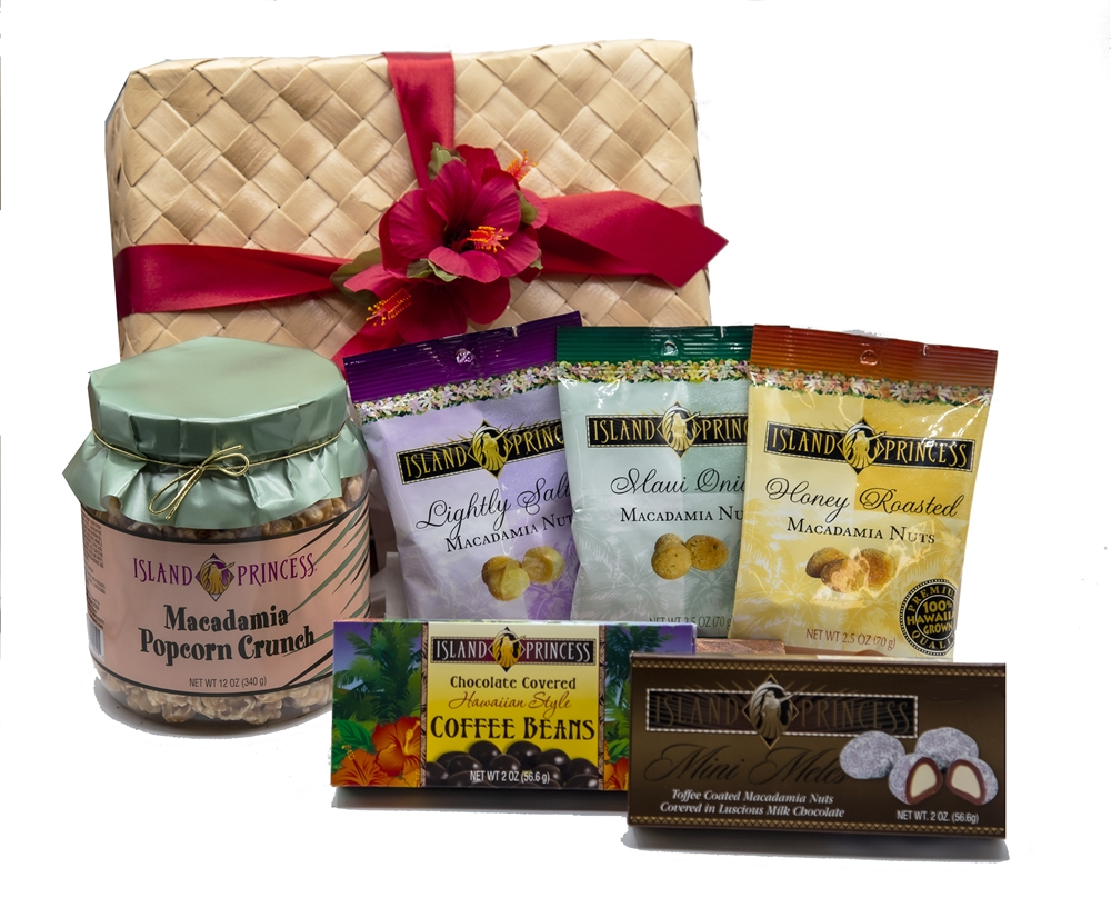 hawaiian aloha gift basket gourmet selection of seven of our best sellers - Christmas Gift Baskets Free Shipping