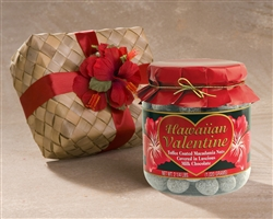 Hawaiian Valentine Mele Macs Large Jar in Gift Basket