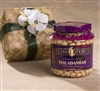 Premium Select Macadamia Nuts our Largest Jar in hand woven Gift Basket. Mostly whole nuts, lightly salted.