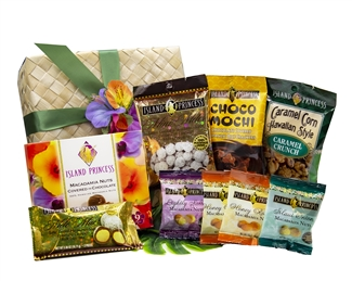 Taste of Island Princess Gift Basket packed with our selection of 9 treats!