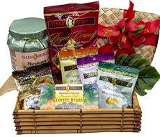 Taste of Paradise Gift Basket gourmet selection of seven favorite flavors!