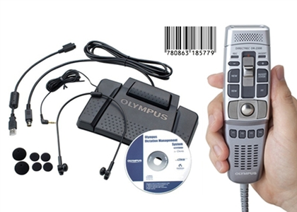 Olympus DR-2300 USB Microphone with Olympus AS-7000 Transcriber
