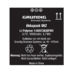 Grundig GD962 Rechargeable Battery Pack