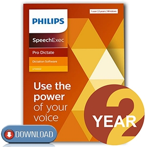 Philips LFH4412/02 SpeechExec Pro Dictate v.11 Software 2 Year License - Instant Download