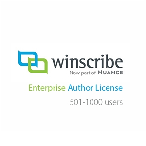 Nuance Winscribe Enterprise Author License (501-1000 Users)