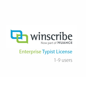 Nuance Winscribe Enterprise Typist License (1-9 Users)