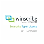 Nuance Winscribe Enterprise Typist License (501-1000 Users)